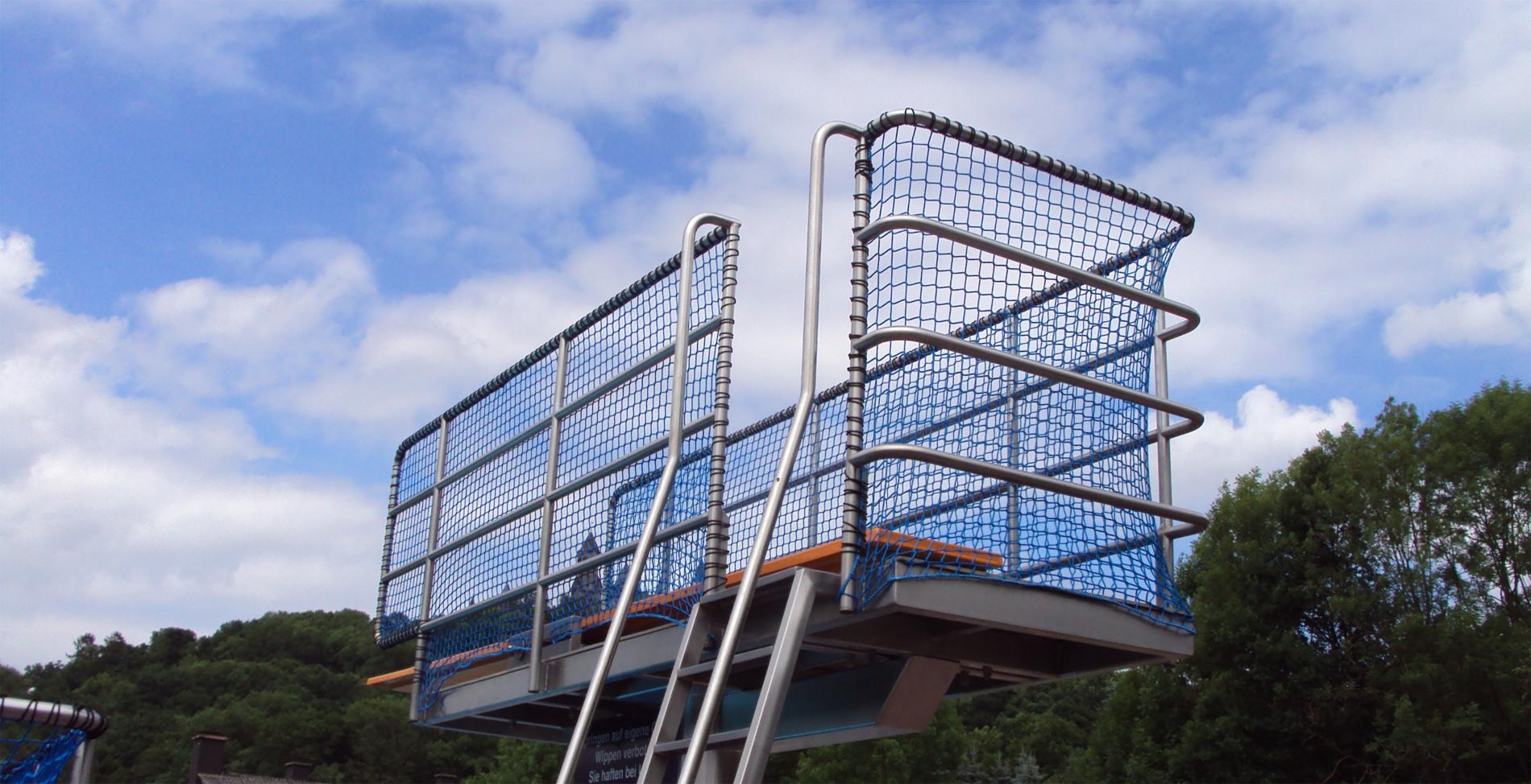 Sonderlösung Schwimmbad Springturm